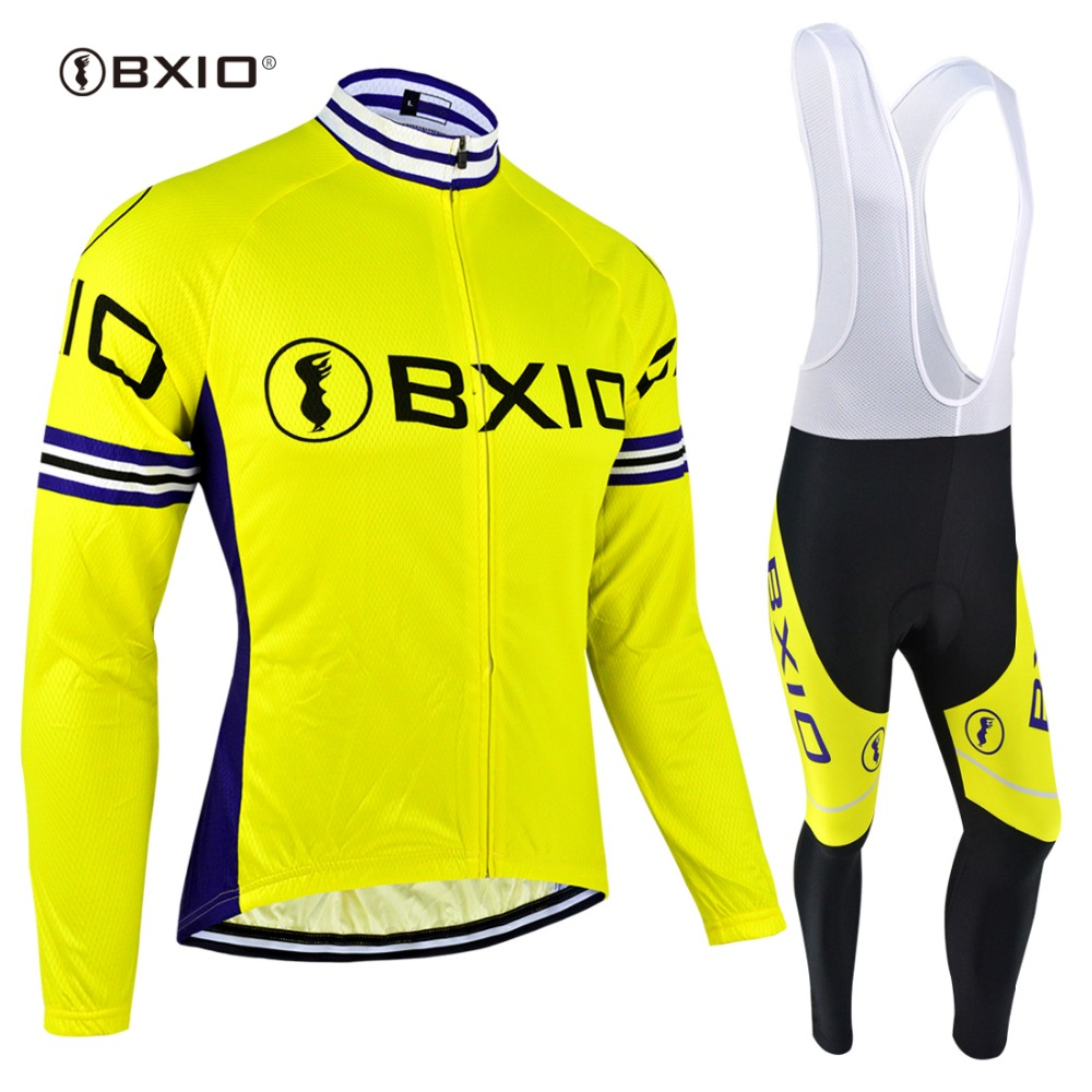 BXIO Hot Winter Fleece Cycling Jersey Sets Bicycle Cycling Clothing Bike Wear Men Long Sleeve Outdoor Ropa Ciclismo BX-0109Y051 176 hot cycling jerseys magnolia flowers hot cycling jersey 2017s anti pilling female adequate quality sleeve cycling clothing f