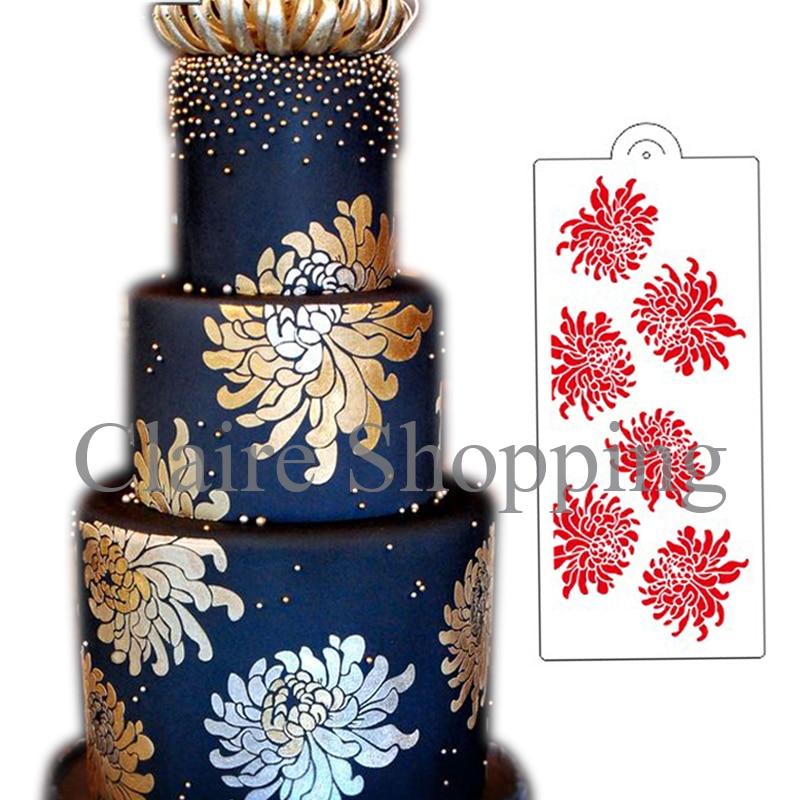Yueyue Sugarcraft Spidermum kūka mežģīņu trafaretu tortes dekorēšanas rīki kūka veidņu kāzu kūka dekorēšana fondant instrumenti