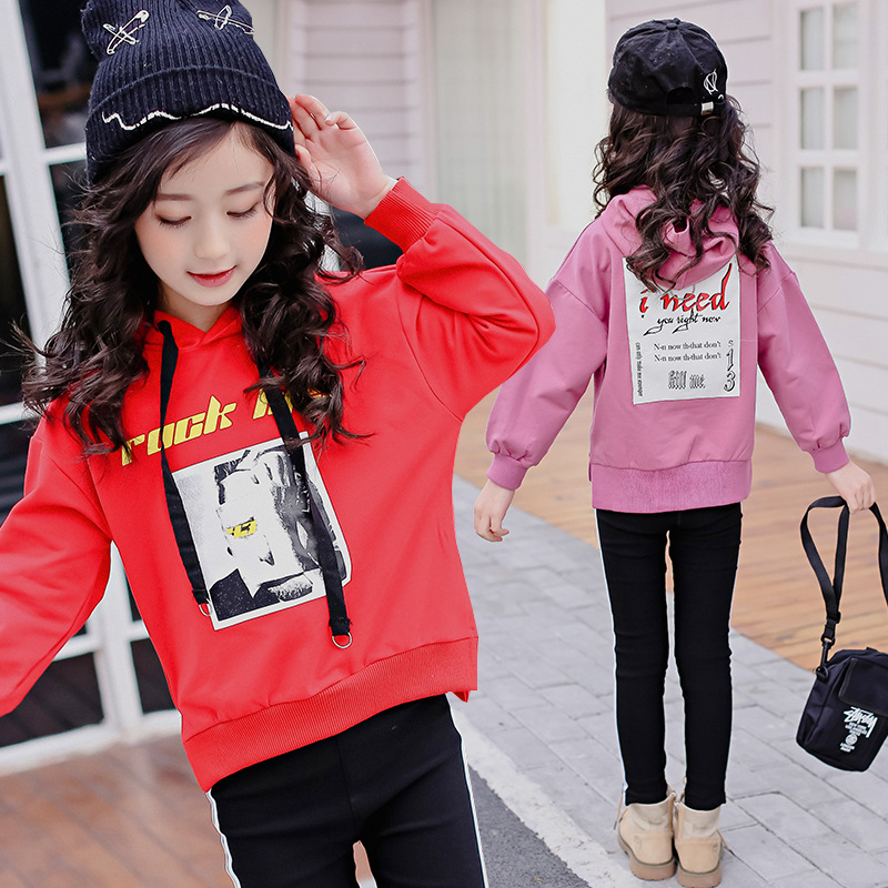 цена на 2 Piece Set Kids Girls Sports Suits Hoodies Pullovers Sweater Pants Tracksuit Outfits 2018 Spring New Children Clothing