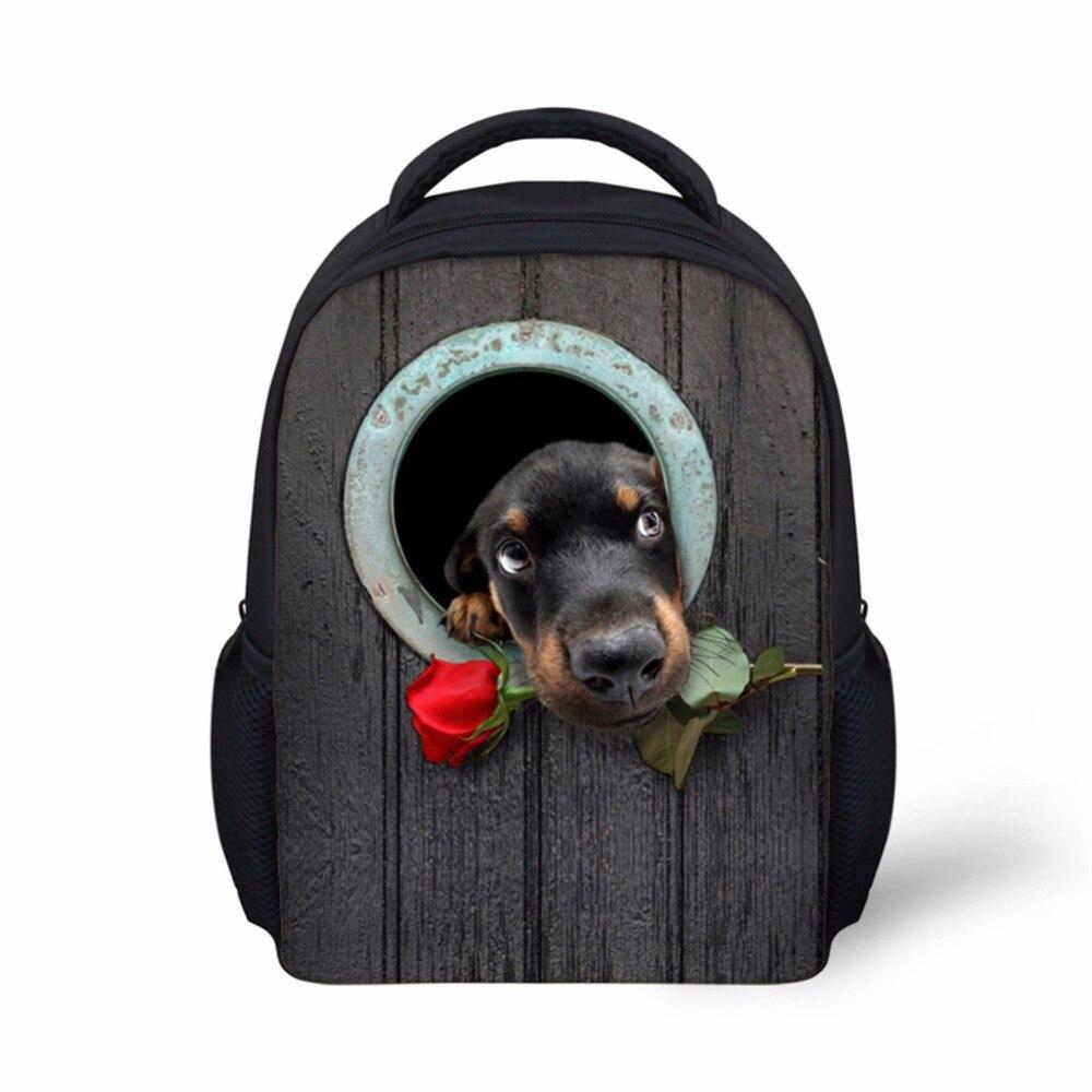 Noisydesigns rose dog beauty cute Backpack for Toddler Kids Pretty Little Boys Girls School Bagpack Preppy Child Baby Bookbag