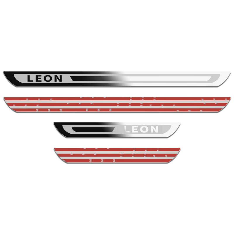 Image 5 - 4PCS For seat Leon Stainless steel Door Scuff Sill Plates styling car accessories-in Car Tax Disc Holders from Automobiles & Motorcycles
