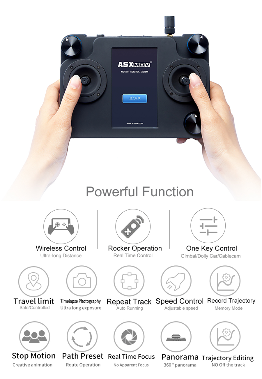 ASXMOV Flying Fox Professional Cablecam System Gimbal Cable Slider dslr  gimbal controller for video film Aerial photogrphy