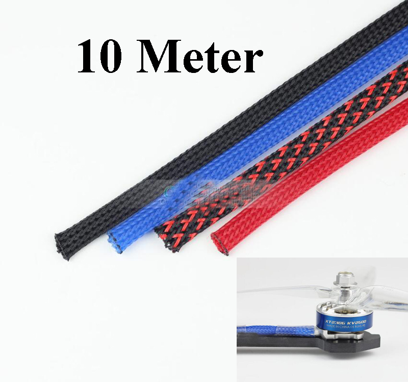 Diameter 6mm PET Wire Protective Tube Pipe Cover Skin Shrink For Brushless Motor/Servo/ESC RC Drone FPV Racing Multi Rotor Parts