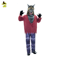 Werewolf Costumes Mens Menacing Wolf Disguise Clothes for Animal Masquerade Party Adult Cute Wolfman Cosplay Sets for Party