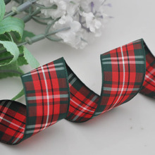 Upick 1 25mm Wine-Green Lots Mix Tartan Plaid Ribbon Bows Appliques Sewing Crafts 5Y