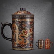 Runde lila königin der Pu'er Filter tee tasse keramiktassen büro tassen geschenk reisebecher kung fu für tees 400 ML