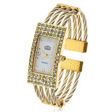 Women's Wristwatch Bracelet Rectangle Case Quartz Ladies Watches Relojes Mujer Clock Female Dress Relogio Feminino 2016