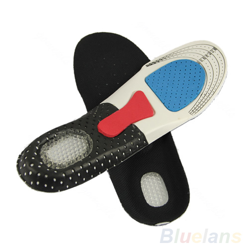 Free Size Unisex Orthotic Arch Support Shoe Pad Sport Running Gel Insoles Insert Cushion for Men Women 02NN 4NGI