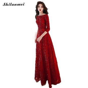 d9dc3a1ed Lentejuelas rojo 2019 las nuevas mujeres elegante vestido de fiesta de  graduación para Gratuating fecha ceremonia