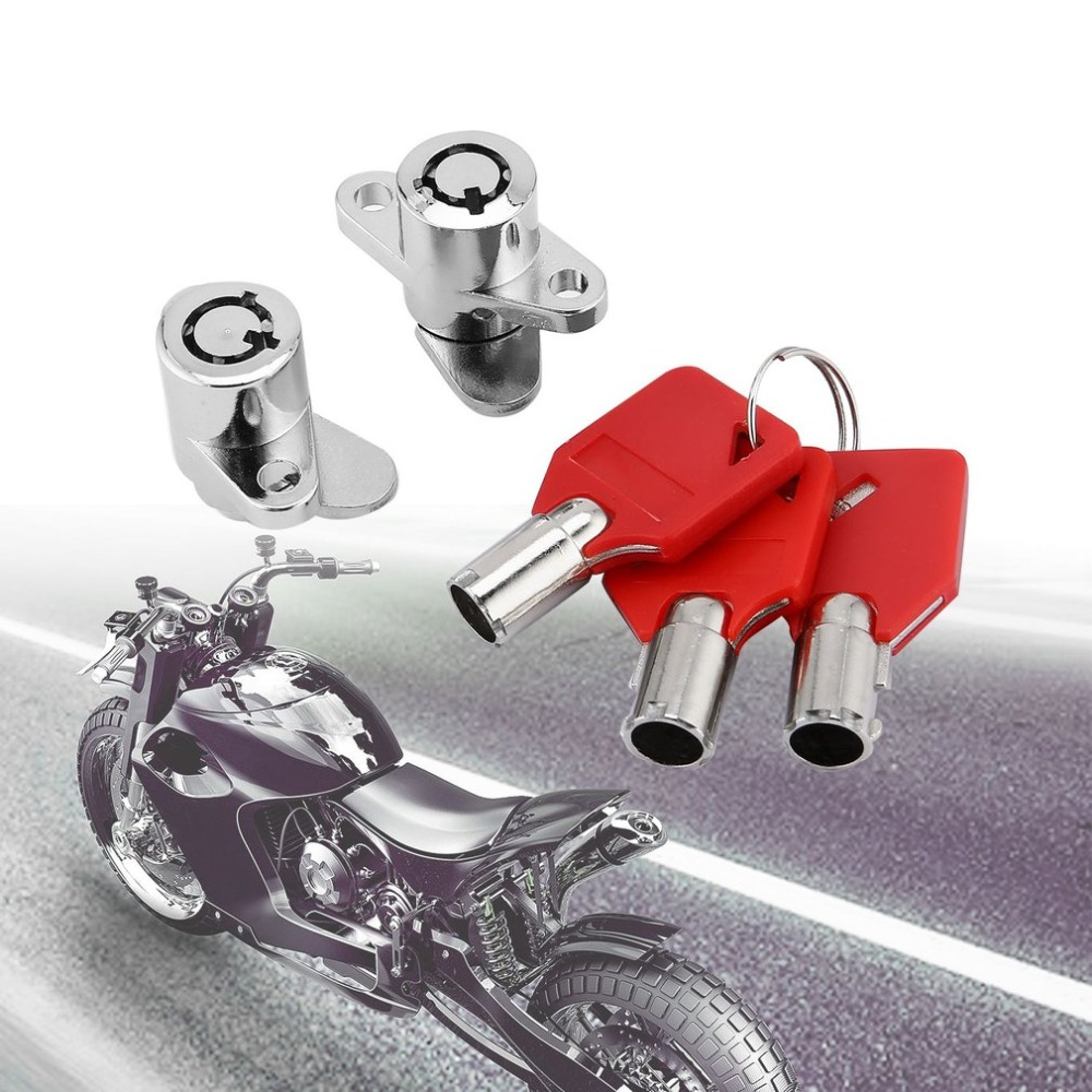New Motorcycles Red Hard Saddle Bags Locks With Keys Set For Harley Touring Electra Glide Street Road King 93-13