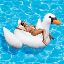 150cm Inflatable Flamingo Swan Ride-on Pool Float Swimming Mattress Beach Lounger adult Rafts flamingo inflatable circles