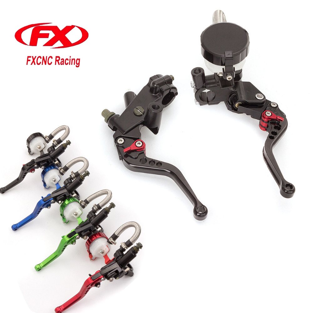 FX CNC 7/8 125-300CC Motorcycle Master Cylinder Reservoir Brake Clutch Lever Hydraulic For APRILIA RS50 1999-2005 APRILIA RS125