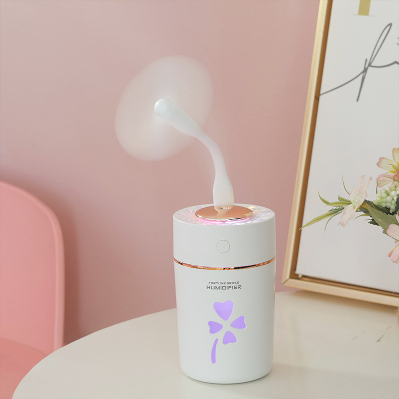 Ultrasonic Usb Air Humidifier For Car Three In One Four leaf Clover Office Desk Mist Maker 280ML Mini Usb Room Humidifier in Humidifiers from Home Appliances