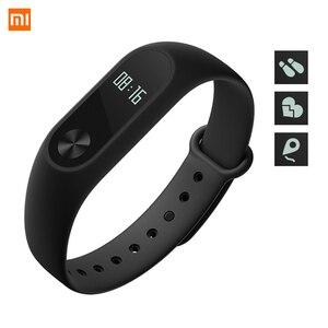 Image 1 - Xiaomi Mi Band 2 Smart Wristband Fitness Bracelet Xiomi Miband 2 Heart Rate Monitor Xaomi Activity Tracker Xaiomi Smart Band2