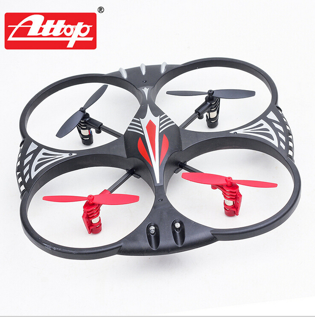 Original ATTOP YD-716 4 Channel RC 6-Axis Flight Control UFO Quadcopter w/LED Lights Electric Helicopter 3D Eversion 2.4G Drone
