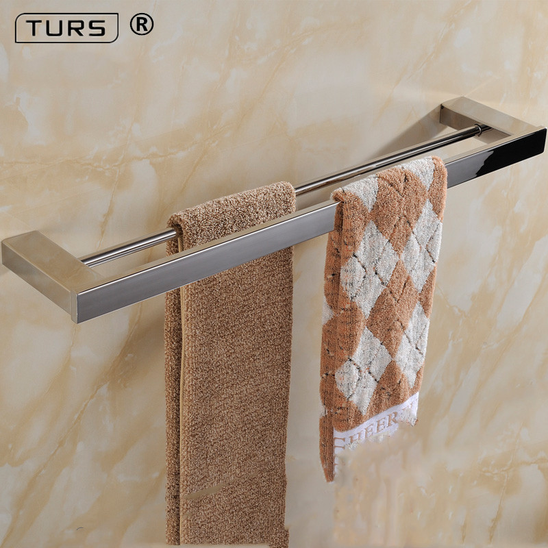 2018 SUS 304 Stainless Steel Square Single Towel Bar Mirror Polished Towel Rack In The Bathroom Wall Mounted Towel Holder sus304 stainless steel mirror 60cm single towel bar towel rail holder stainless steel construction sm020 water sa