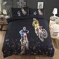 Jogo da motocicleta 3d impressão conjunto de cama duvet covers fronhas rally consolador conjuntos roupa cama dinossauro