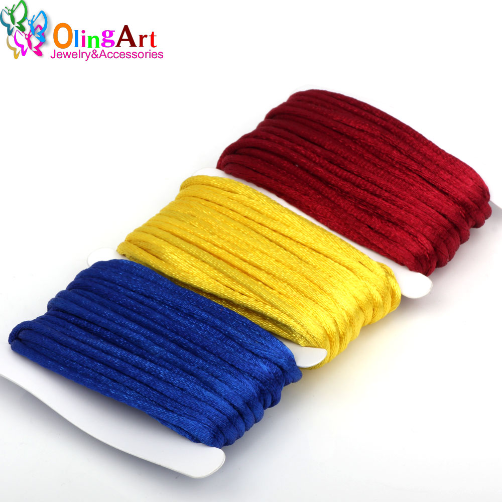 Beads & Jewelry Making 1roll Wire 2.0 Mm 30 Meters Long Colours Lines To Jade Taiwan Red Lines To Rope Jewelry Diy Manual Weaving Cord Line Wholesale Less Expensive Jewelry Findings & Components