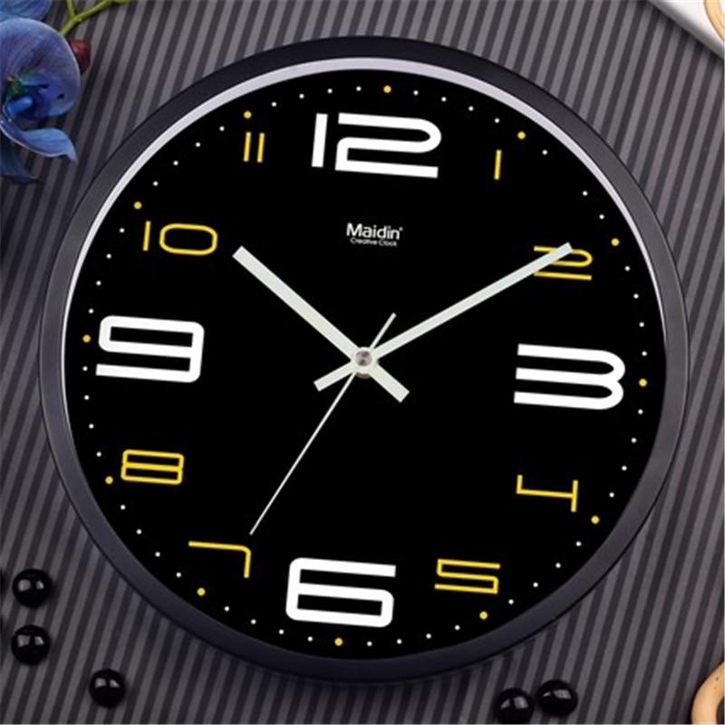 Maidin Man Metal Modern Design Digital Wall Clock,Silence ...