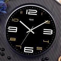 Maidin Man Metal Modern Design Digital Wall Clock,Silence Quartz Sweep movement,Metal made Quality for Office Home Decor,10''