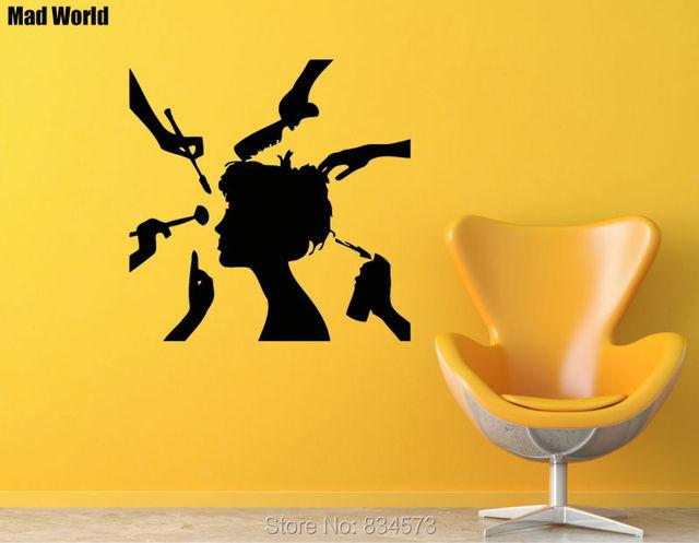 Mad World Hairdressing Salon Girl Beauty Salon Spa Wall Art Sticker ...