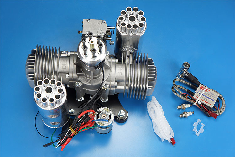 Moteur à essence/essence DLE 170CC DLE170 DLE170M 170 w/démarreur automatique électrique pour Version auto-démarreur électrique Paramotor