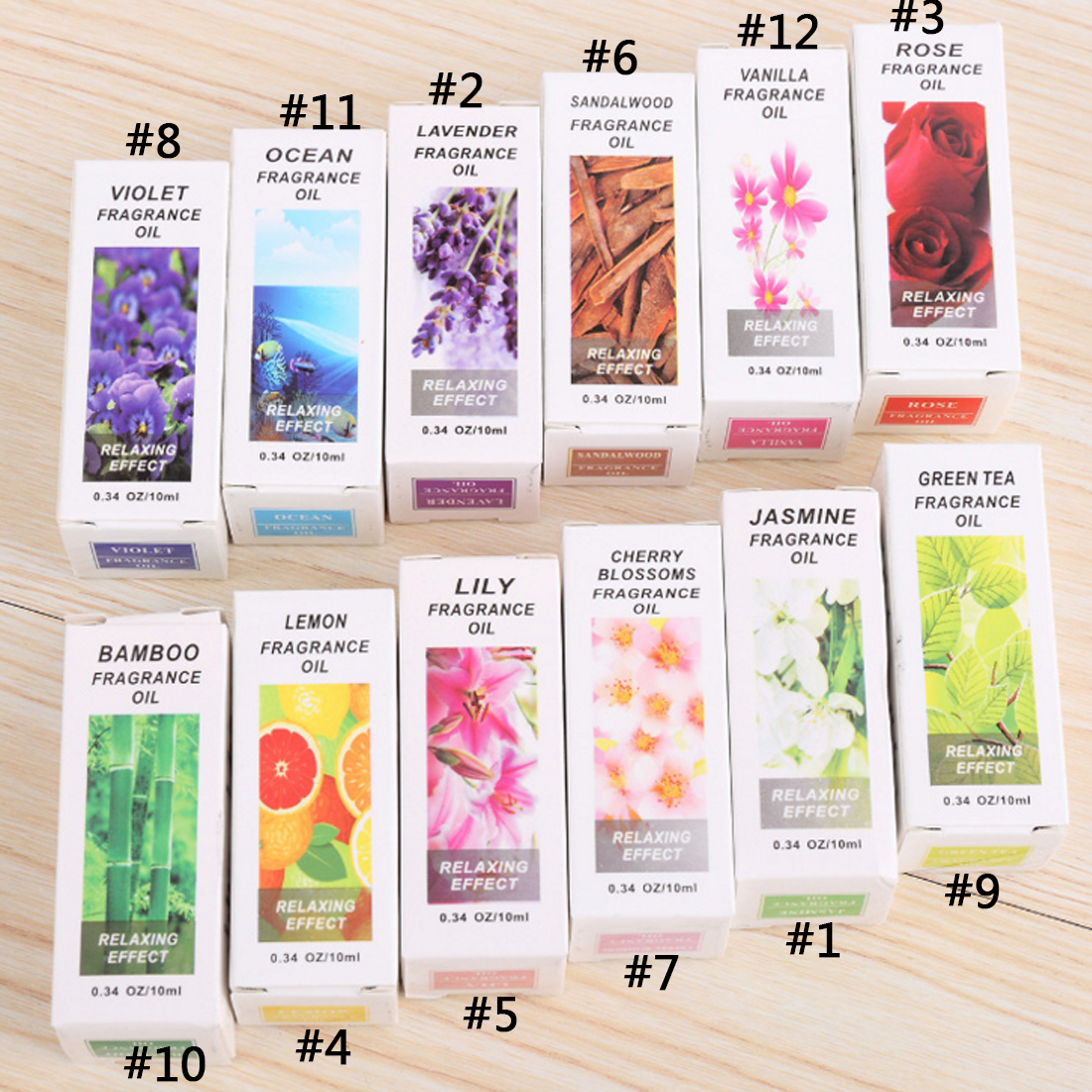 Hot Sale 1PC 10ml Water-soluble Flavor Oil Natural Plants Aromatic Fragrance Essential Oil Spa Aromatherapy De-Stress Relax