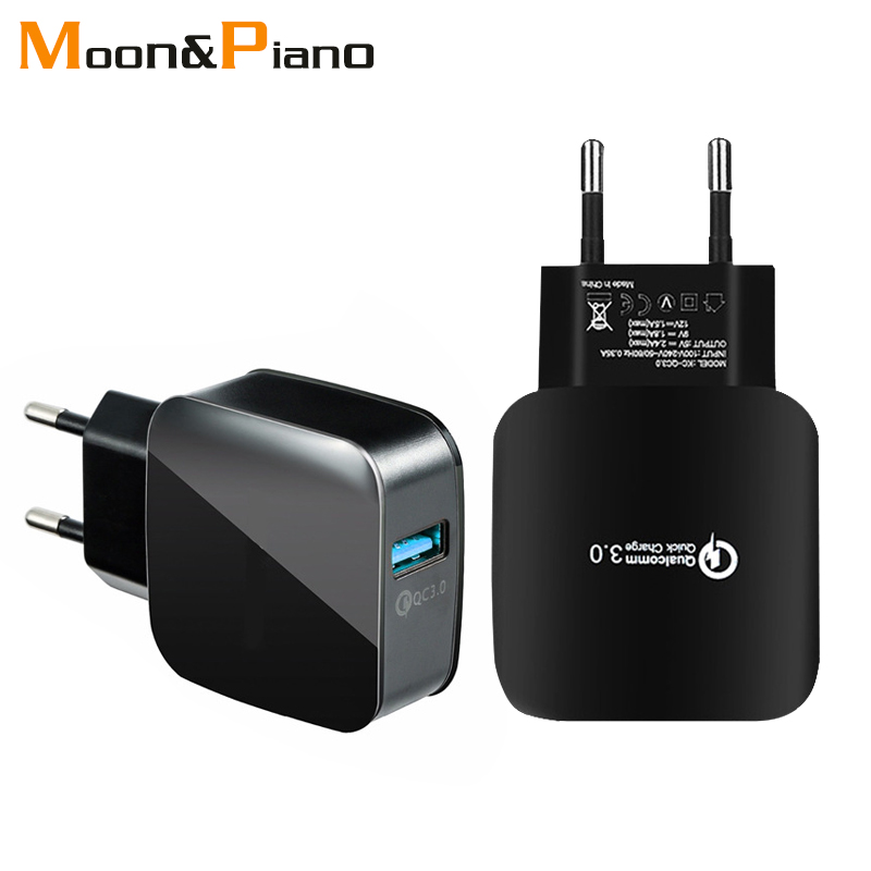 QC3.0 Mobile Phone <font><b>Charger</b></font> EU US Adapter Plug 5V3A Fast Charging For Universal Smart Phone <font><b>usb</b></font> Quick Charge 3.0 Travel <font><b>Wall</b></font> image