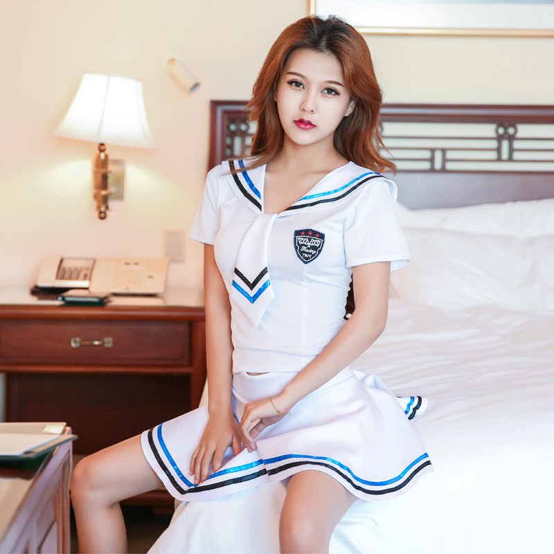 Sexy Girl Students Sailor Lingerie School Uniform Skirt Halloween Cosplay Outfit