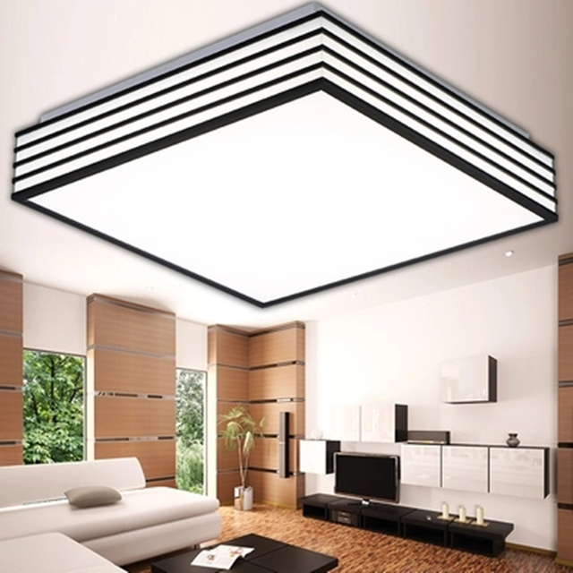 Modern Led Ceiling Lights AC 90 260V Acryl Shade Remote Control Lustre Lumiere Plafond Lamp