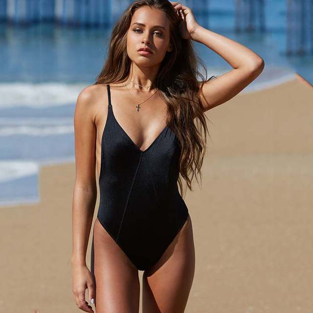 d83ebfe5b36ba placeholder 2018 New Red back Sexy high cut leg one piece swimsuit female  Swimwear Women Bathing suit