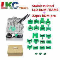 Newest BDM FRAME with Full Set Adapters for Fgtech BDM100 programmer JFIND stainless steel with 22pcs Adapters DHL FREE