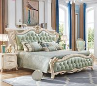 Foshan Factory wholesale New classical genuine leather bedroom set bed
