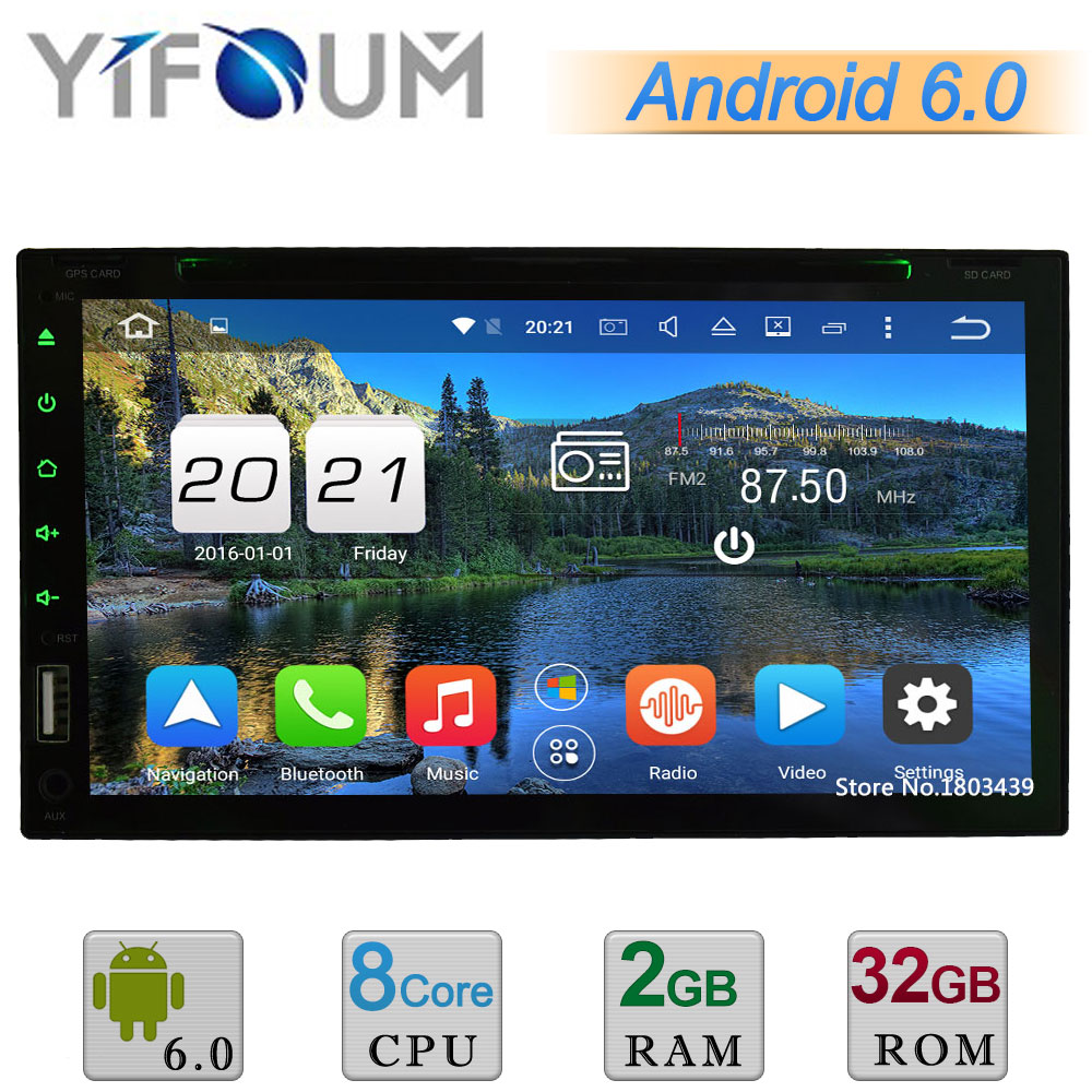 Android 6 0 2Din Octa Core 4GB RAM 4G Universal Car DVD Player font b Radio