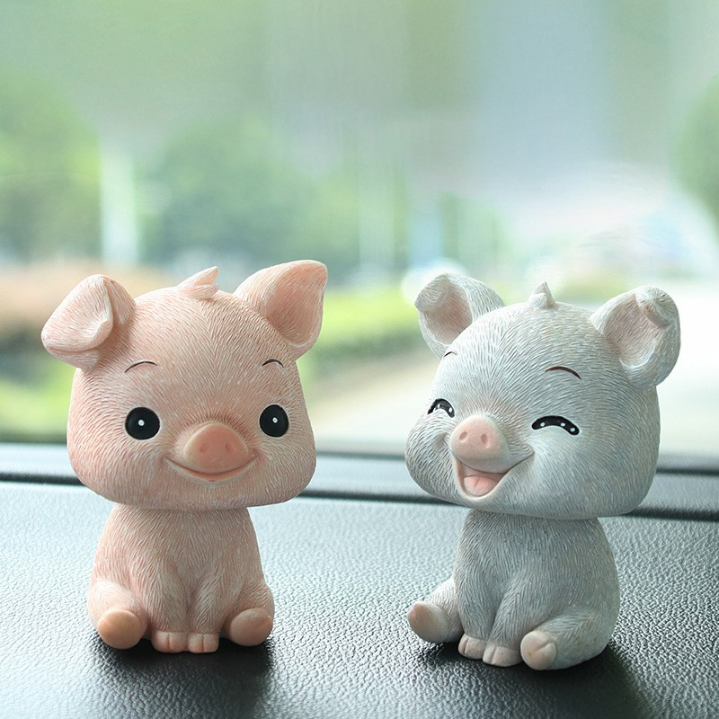 Ornaments 3pcs Ar Accessories Cute Pig Cartoon Resin Ornament Shake The Head Doll Toy Home Auto Interior Dashboard Decoration Gifts In Many Styles Automobiles & Motorcycles