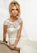 free shipping 2014 new design vestido de noiva sexy long Formal Party bridal gown Elegant Venice lace mermaid wedding dresses