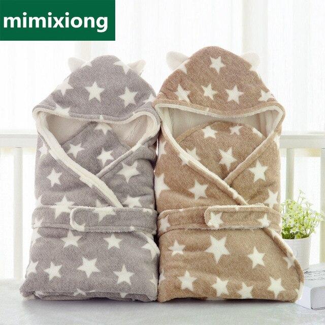Спальный мешок для малышей со звездами и ушами зимний конверт для новорожденных на выписку из роддома уютный спальный мешок для коляски конверт на выписку из роддома