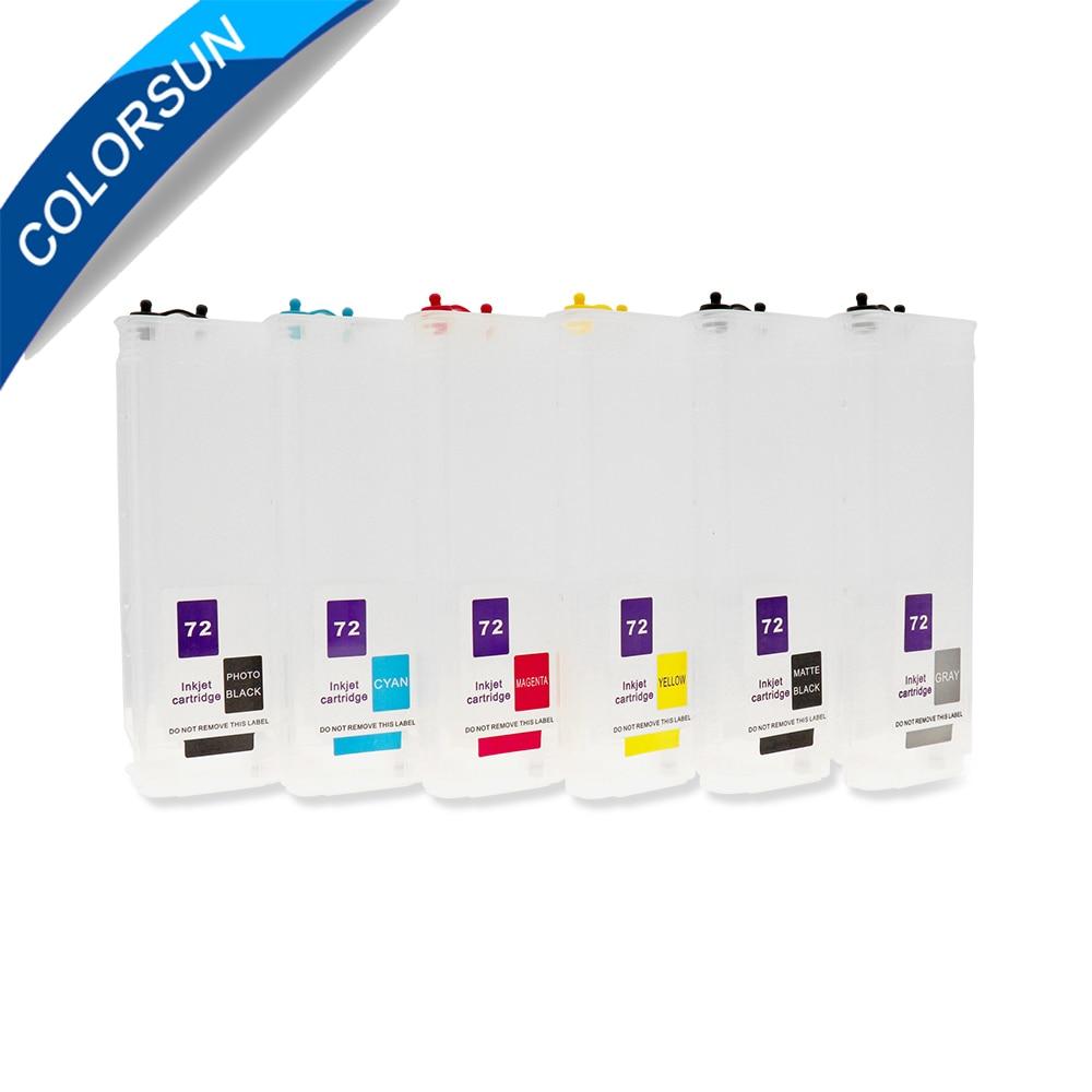Colorsun 280 ml cartuccia di inchiostro riutilizzabile compatibile per HP 72 per HP T795 T610 t620 T1120 T1200 T1300 T2300 T770 t790 C9403A