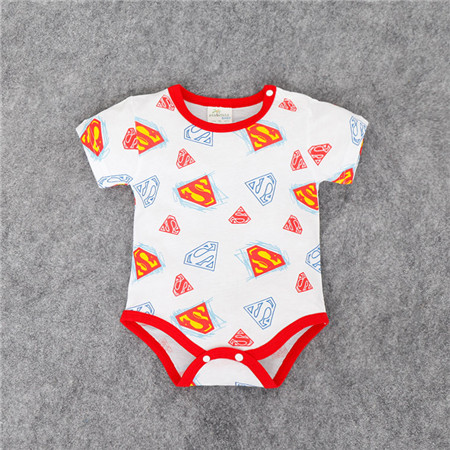 266377bc524e Multi Colors Baby summer clothes Superman batman Love Daddy letter ...
