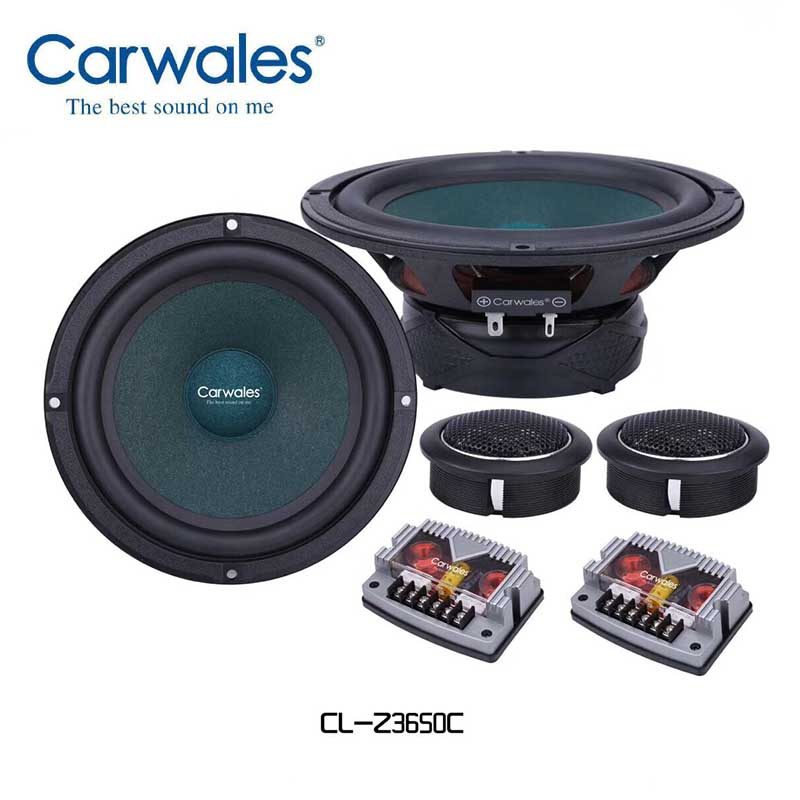6.5inch Car Audio Speaker Component 4ohm 380W With Tweeter Cross Over 2 Way HIFI Car Speaker Set 6-1/2'' 2 Way Compound Speaker