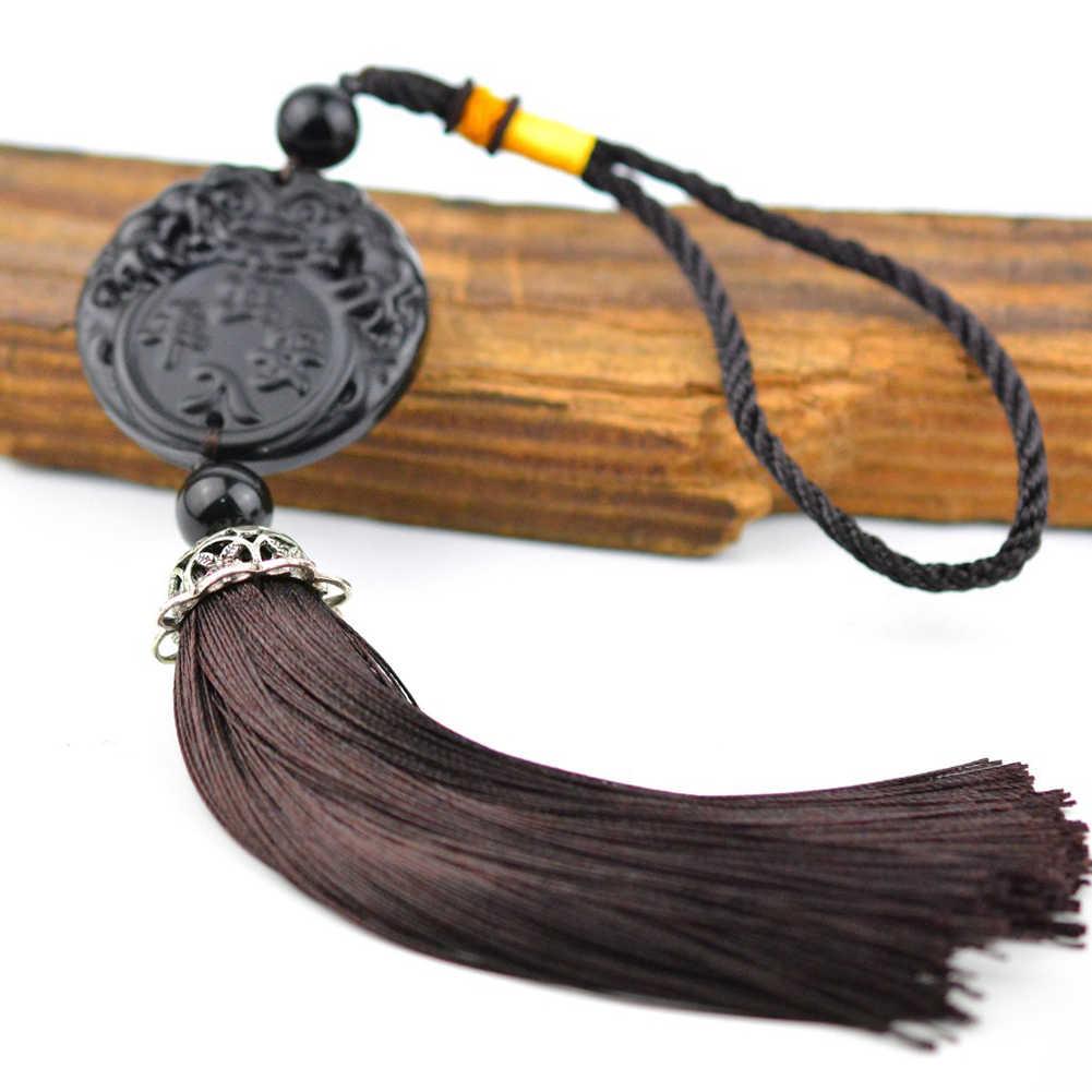 Pi Xiu/พระพุทธรูป/Bodhisattva ธรรมชาติสีดำ Obsidian จี้ Amulet สร้อยคอ