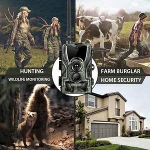 Image 4 - HC 801LTE 4G Hunting Camera 16MP 64GB Trail Camera IP65 Photo Traps 0.3s Wild Camera With A 5000Mah Lithium Battery for a gift