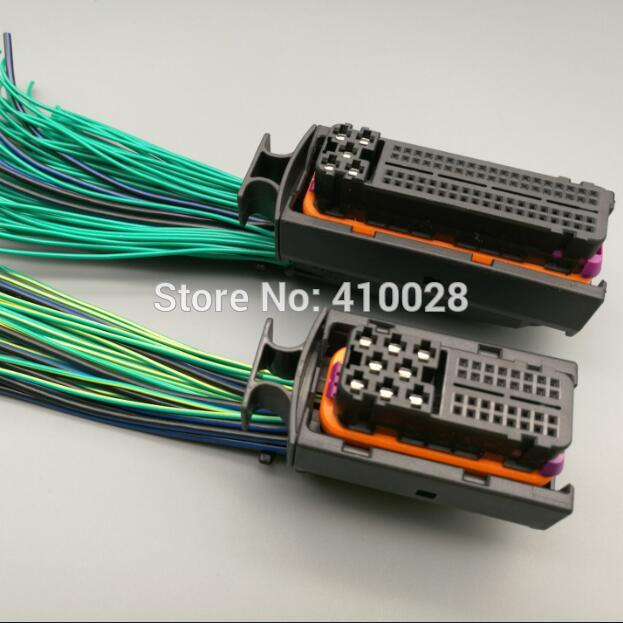 online get cheap computer wiring harness aliexpress com alibaba car 40p 81p engine wiring harness plug 121p 121 pin 1j0 906 385c 038