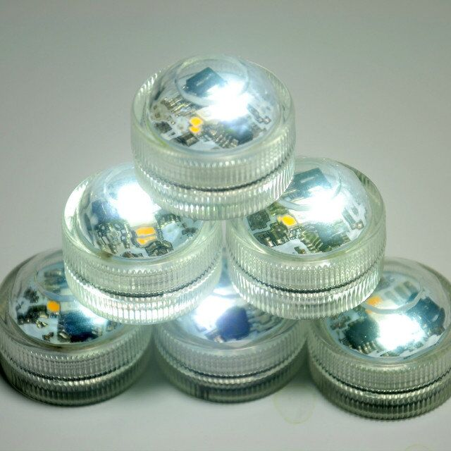 20*Waterproof Mini 3LEDs Submersible LED Light For Wedding Party Events Under Vases Water Decoration With Remote Controller
