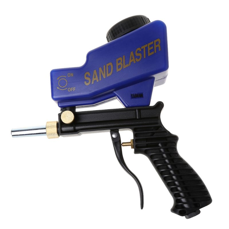 Portable Gravity Sandblasting Gun Machine Abrasive Pneumatic Set Removing Spot Rust Blasting Device New