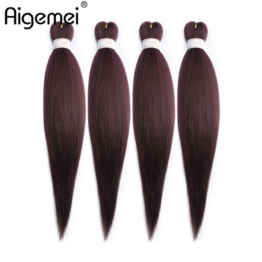 Aigemei Kanekalon Jumbo Synthetic Braiding Hair Crochet Hair Extensions Jumbo Braids Hairstyles 22 Inch 85g Five Colors Jumbo Braids