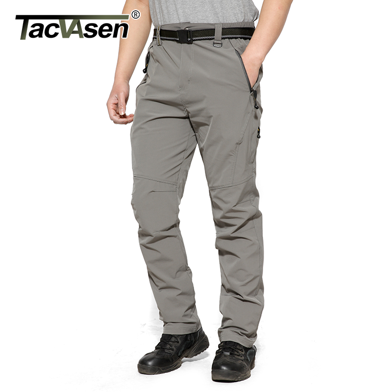 TACVASEN Men Summer Pants Breathable Quick Drying Pants Spring Military Pants Thin Hike Climb Trousers Plus size 8XL TD-LMM-001