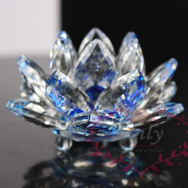 Free shipping Shinning  K9 Natural Stones  Minerals Crystal Lotus Flower Crafts Fengshui For Home Wedding Decoration & Gift