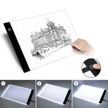 A5 LEVOU Artista Gráfico Fino Stencil Art Drawing Board Light Box Três-fase Escurecimento Tracing Table Pad USB Art placa de cópia(China)