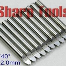 40 угол 4x2,0 мм V вольфрамовые карбидные биты CNC инструменты металлические фреза, Гравировальный фрезерный станок фреза для алюминиевой стали